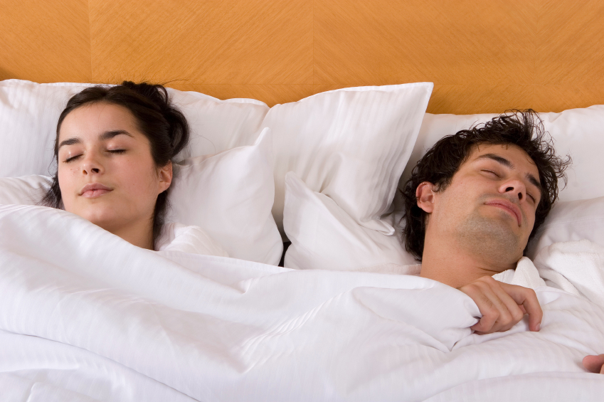 peaceful couple sleeping
